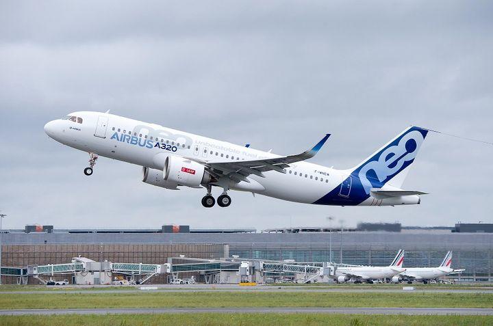 Vol d'essai réussi pour le premier A320neo muni d'un moteur Leap – Aéronautique – Défense