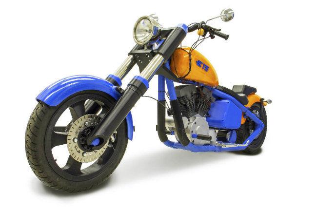 Une moto électrique en plastique, imprimée en 3D