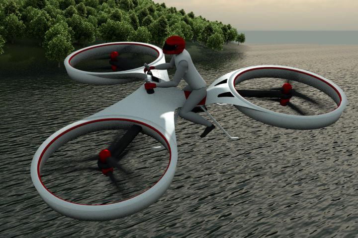 L'industrie c'est fou : mi-vélo, mi drone, voici le flike !