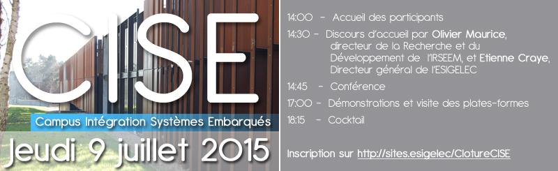 Invitation ESIGELEC IRSEEM : Evènement CISE 9 Juillet