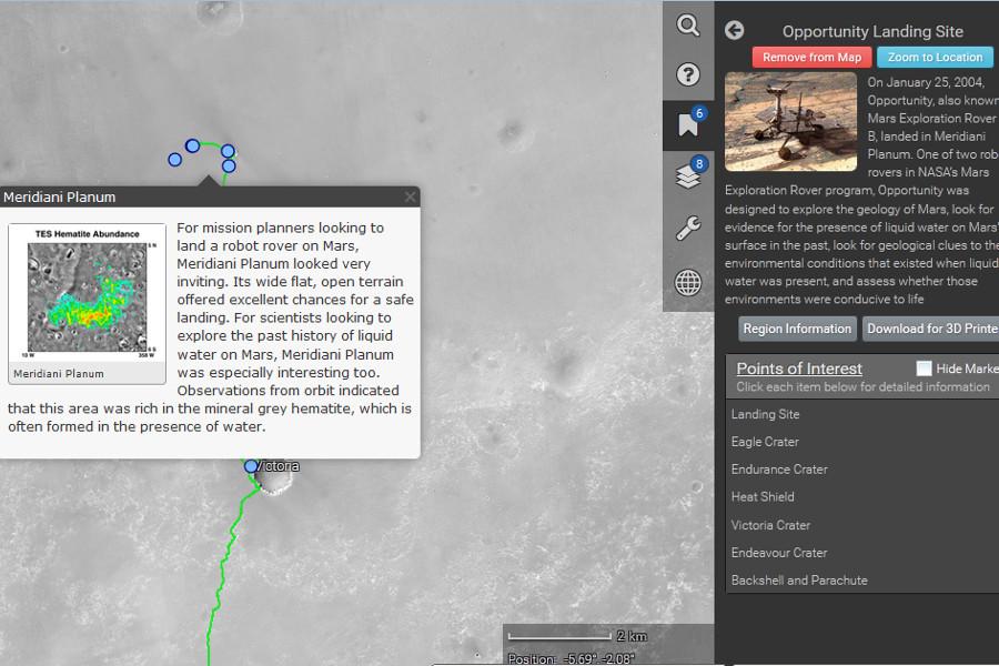 La Nasa vous emmène en trek sur Mars grâce à une application web