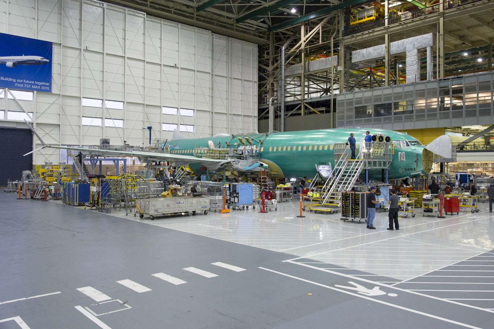 En images : Boeing prêt pour l'assemblage final de son nouveau 737 MAX – L'Usine de l'Aéro