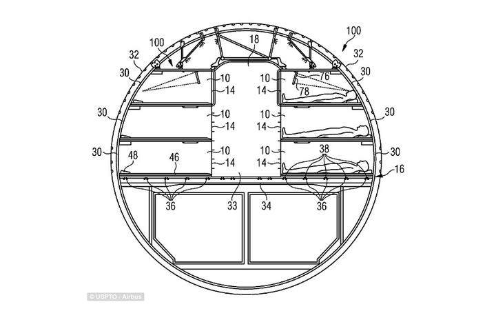 En images : Airbus dépose un brevet pour un avion équipé de couchettes – L'Usine de l'Aéro