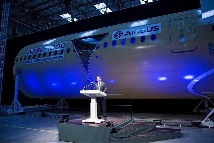Le premier fuselage de l'Airbus A350-1000 est sorti de l'usine d'Hambourg – L'Usine de l'Aéro