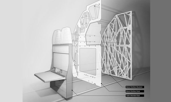 Airbus et Autodesk développent une « cloison bionique » grâce à l'impression 3D, actualité aéronautique ::: Le Journal de l'Aviation