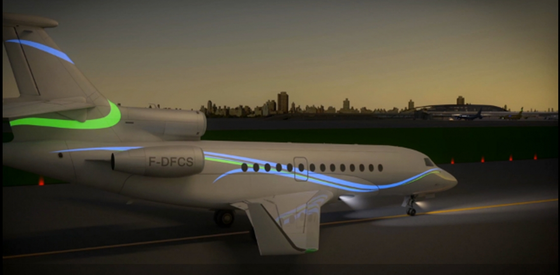 Aircelle Electro-Luminescent Displays Make Bizjets Glow | Business Aviation News: Aviation International News