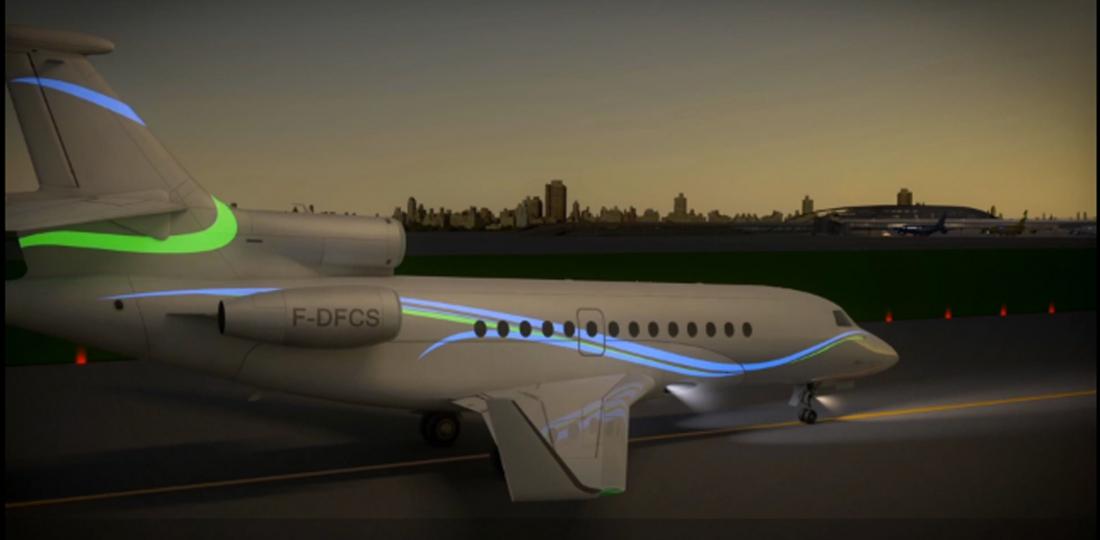 Aircelle Electro-Luminescent Displays Make Bizjets Glow   Business Aviation News: Aviation International News