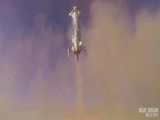 Blue Origin : premier vol d'un étage de lanceur récupérable – Air&Cosmos