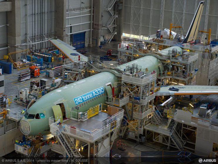 L'Airbus A330 repasse à sept par mois en 2017 – Air&Cosmos