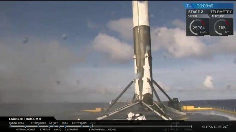 Troisième récupération en mer réussie pour SpaceX – Air&Cosmos