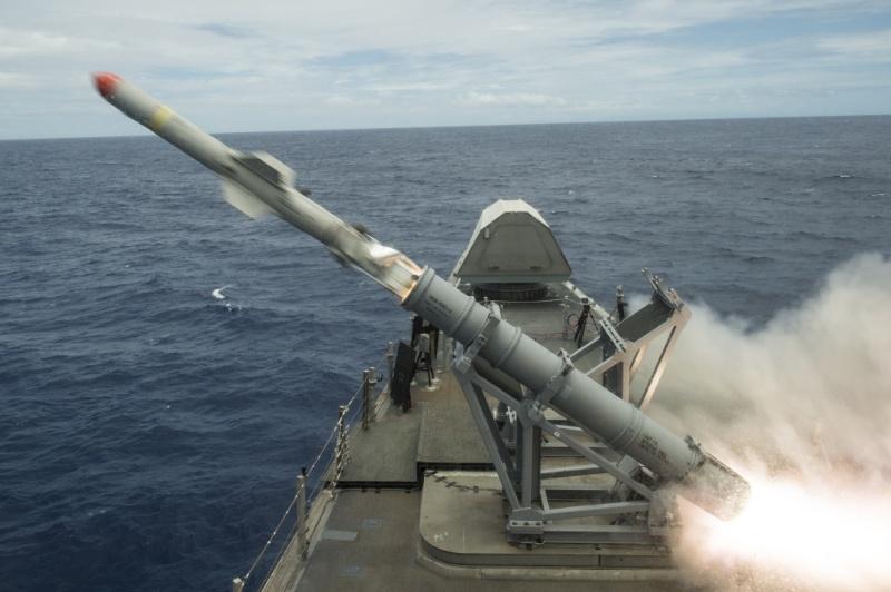 Le missile Harpoon testé sur LCS – Air&Cosmos