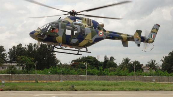 Premier vol de l'hélicoptère indien LUH – Air&Cosmos