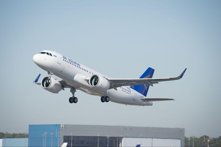 [En images] De l'assemblage au décollage du premier A320neo d'Air Astana