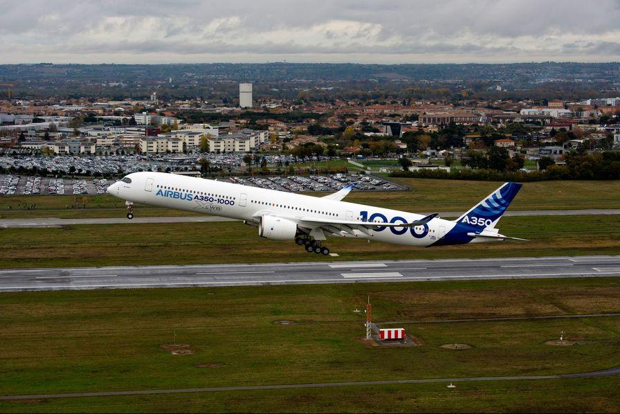 Premier vol d'essai réussi pour l'Airbus A350-1000