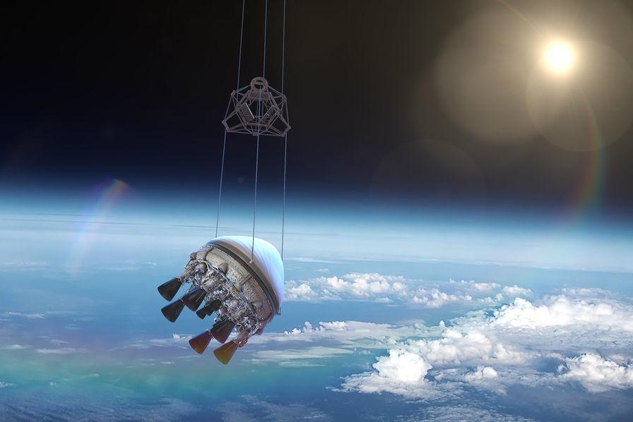 Un nouveau lanceur de satellite tracté à l'aide d'un ballon à l'hélium