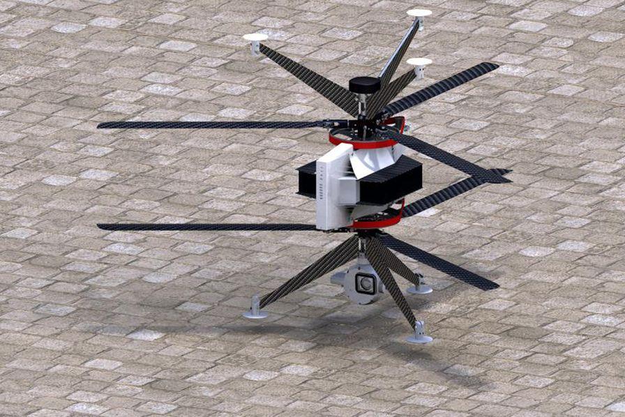 Un cluster drones installé sur l'ancienne base aérienne de Brétigny-sur-Orge