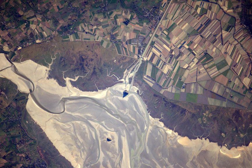 La Terre dans l'oeil de Thomas Pesquet #1 : le Mont Saint-Michel – Air&Cosmos