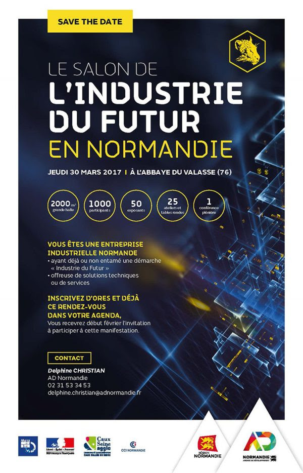 Save the Date : Salon de l'Industrie du Futur en Normandie – 30 mars 2017