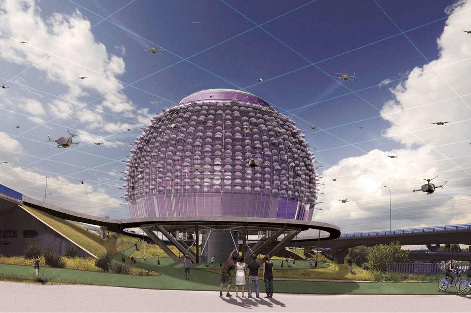 Un architecte imagine le «droneport», un hub futuriste pour accueillir les livraisons par drone