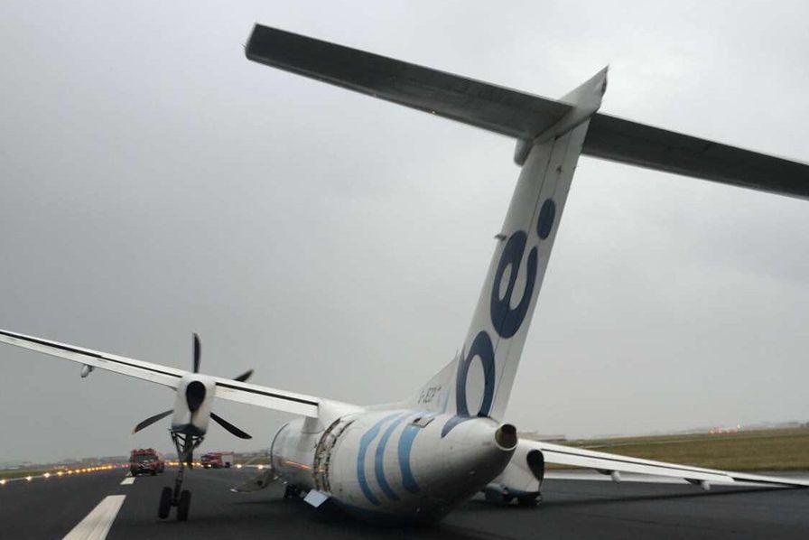 [Vidéo] Atterrissage compliqué dans la tempête à l'aéroport d'Amsterdam Schiphol