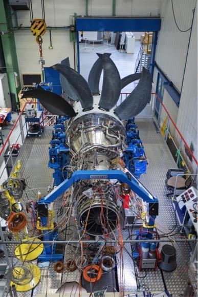 Assemblé à Vernon, l'Open rotor fin prêt pour le banc d'essai