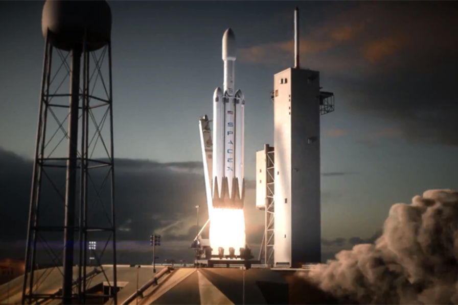[Vidéo] SpaceX finalise les tests au sol de son lanceur lourd Falcon Heavy