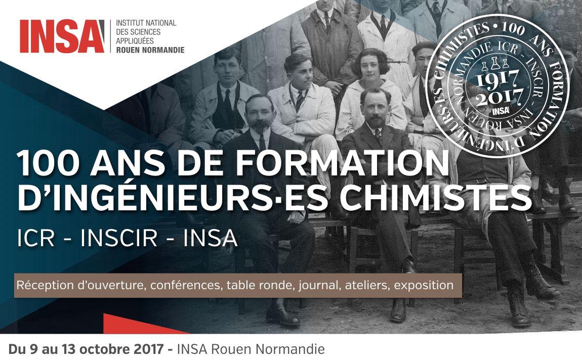 De l'Institut de Chimie de Rouen à l'INSA Rouen Normandie, 100 ans d'histoire !