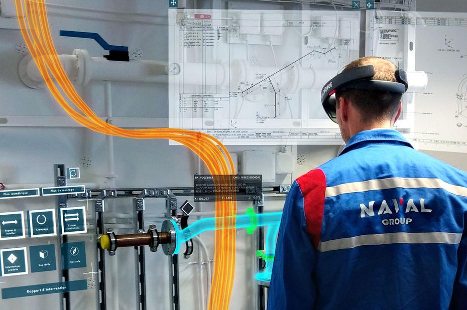 Naval Group teste la réalité augmentée sur ses chantiers navals