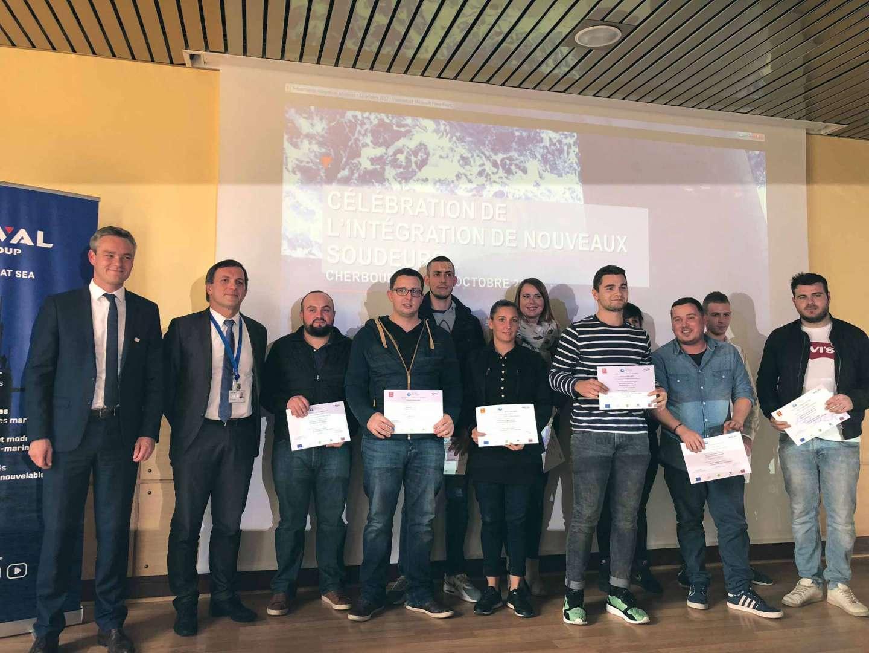 Naval Group et la Région Normandie célèbrent l'intégration professionnelle de dix nouveaux soudeurs, issus d'une formation élaborée conjointement
