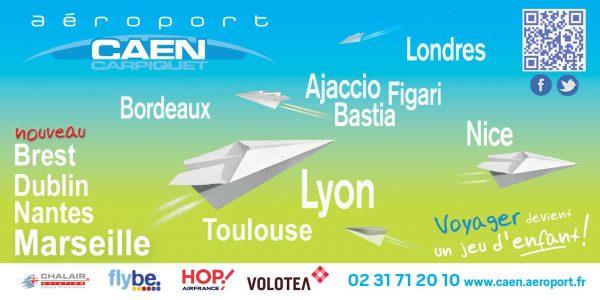 De nouvelles destinations à l'aéroport de Caen Carpiquet