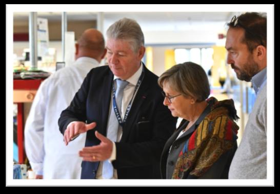 Annie Vidal, la députée visite le site Thales Rouen-Ymare