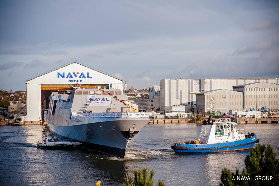 Naval Group met à flot une sixième frégate Fremm
