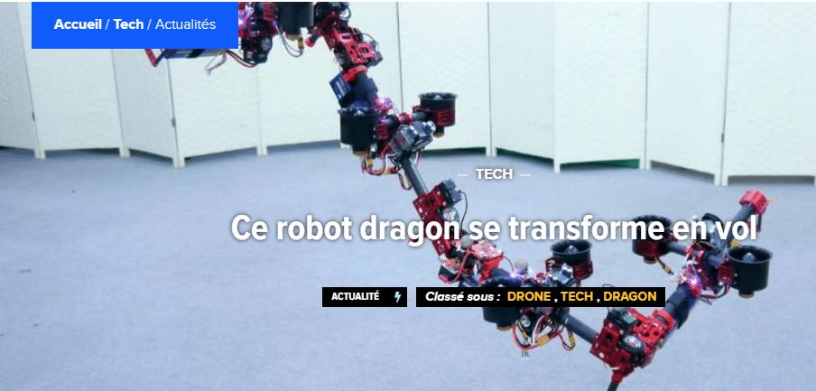 Ce robot dragon se transforme en vol