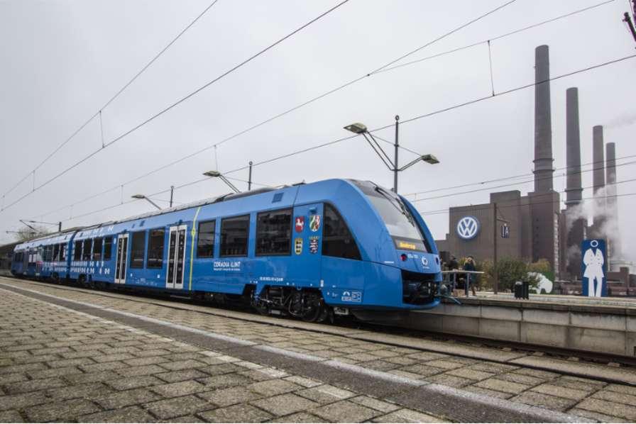 Inauguration du premier train à hydrogène d'Alstom