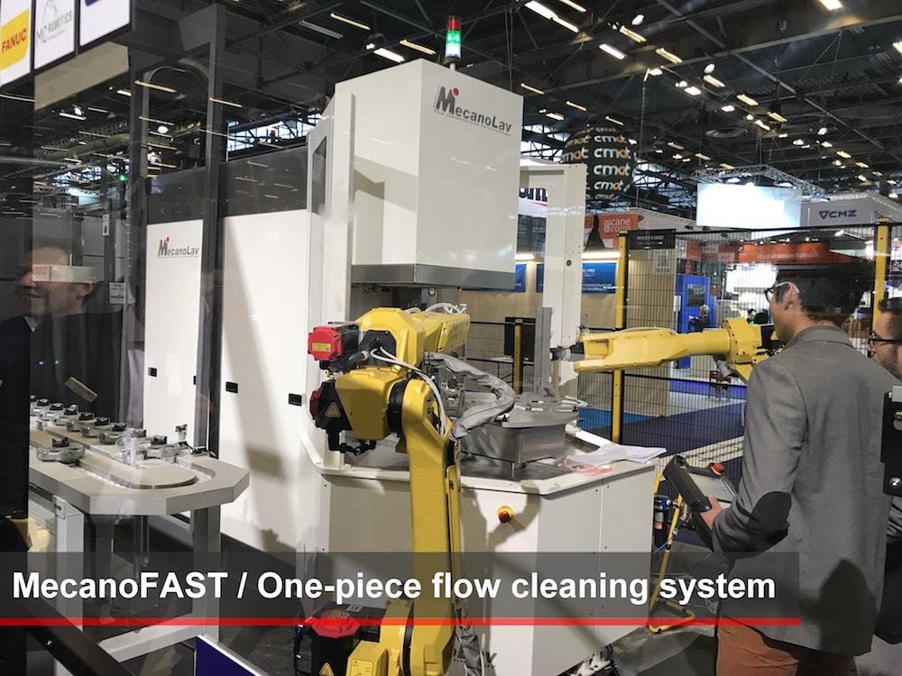 MecanoLav connecte sa machine à laver autonome à l'usine futuriste de Global industrie 2019