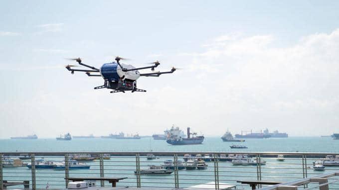 Airbus livre avec succès un bateau avec son drone Skyways
