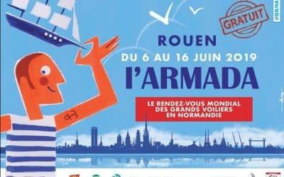 Normandie AeroEspace amarrée aux quais de Rouen à l'occasion de l'Armada du 6 au 16 juin prochains