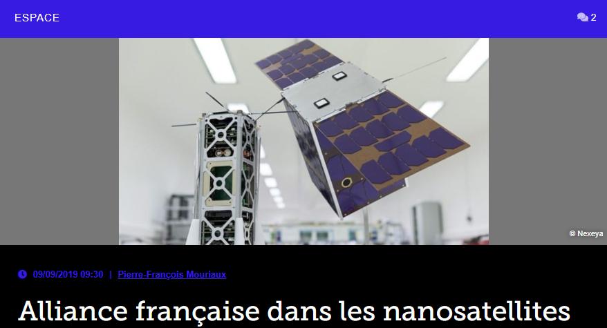 Alliance française dans les nanosatellites