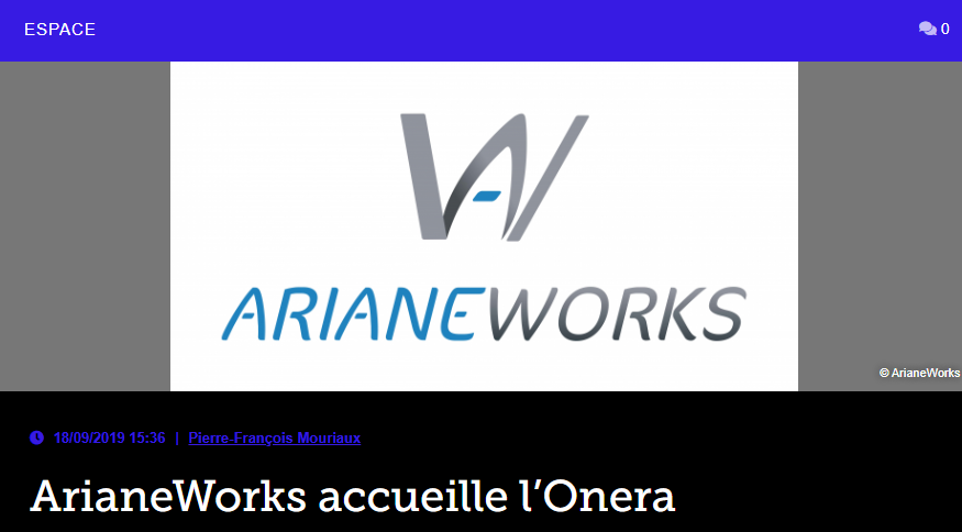 ArianeWorks accueille l'Onera