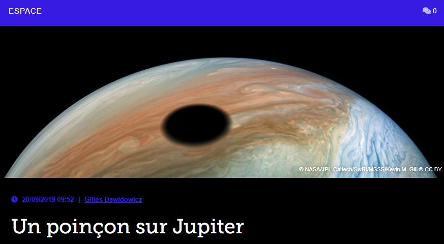 Un poinçon sur Jupiter