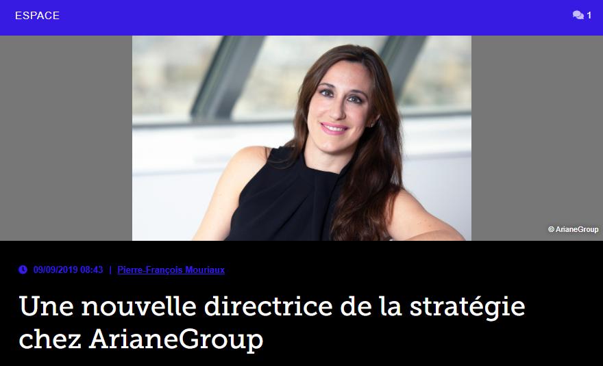 Une nouvelle directrice de la stratégie chez ArianeGroup