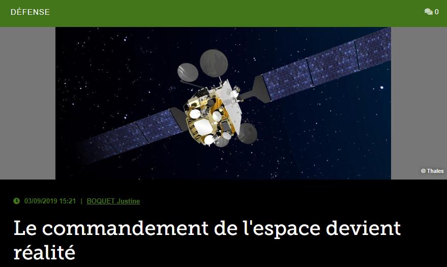 Le commandement de l'espace devient réalité