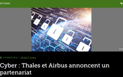 Cyber: Thales et Airbus annoncent un partenariat