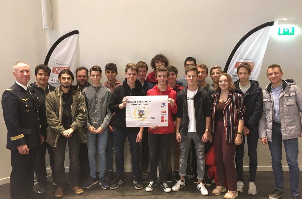 Plus de 700 jeunes normands passionnés d'aéronautique ont obtenu leur Brevet d'Initiation Aéronautique!