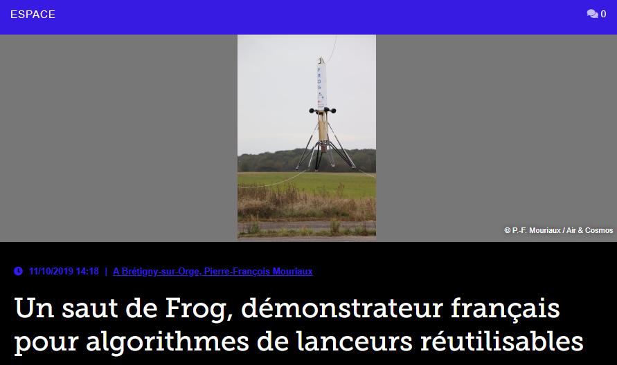Un saut de Frog, démonstrateur français pour algorithmes de lanceurs réutilisables