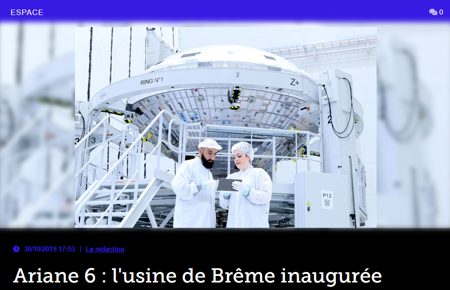 Ariane 6 : l'usine de Brême inaugurée