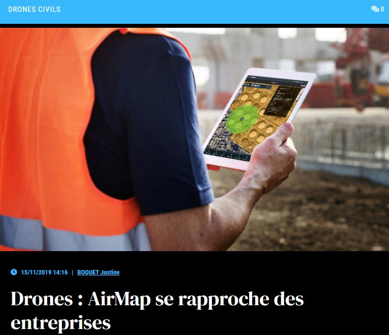 Drones: AirMap se rapproche des entreprises
