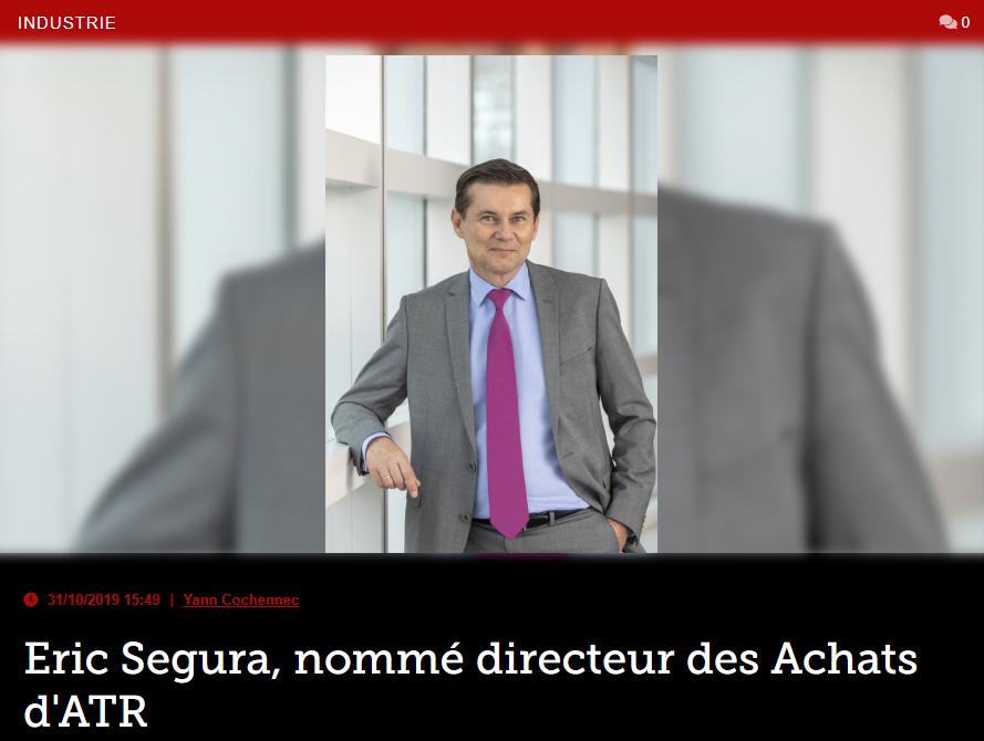 Eric Segura, nommé directeur des Achats d'ATR