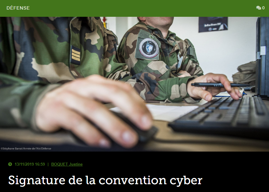 Signature de la convention cyber