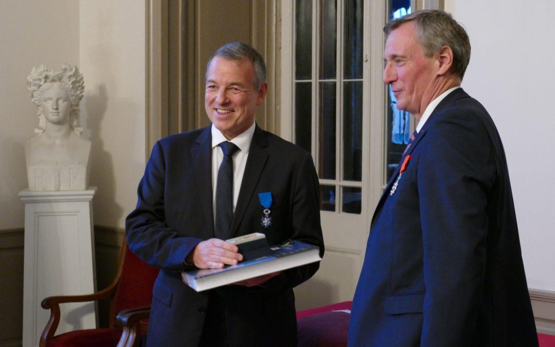 Alain Dulac, nommé au grade de Chevalier de l'Ordre National du Mérite